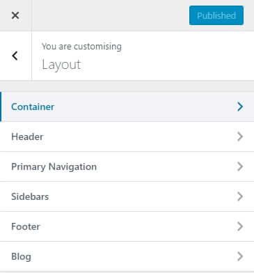 GeneratePress Layout Options