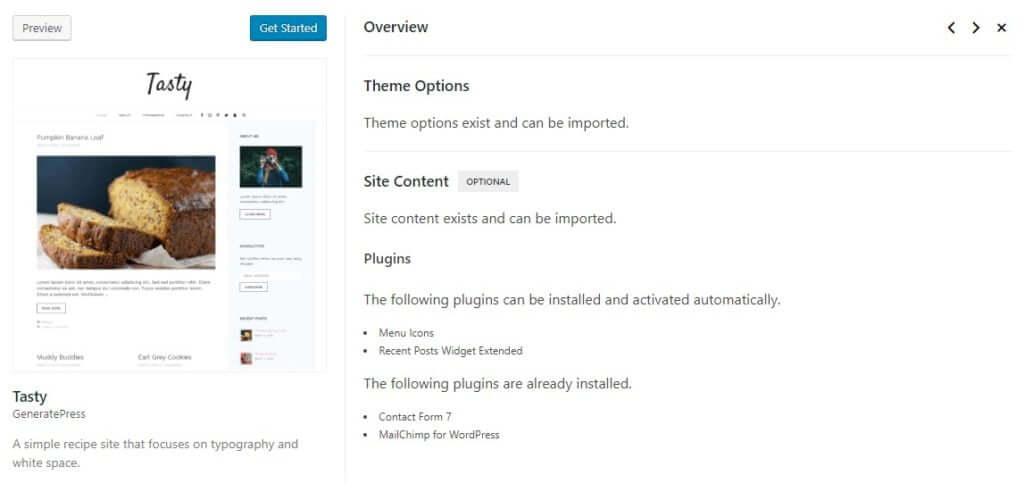 GeneratePress site template