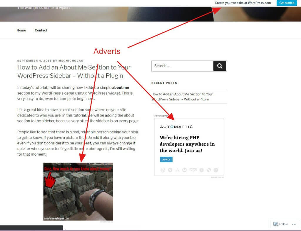 WordPress.com adverts