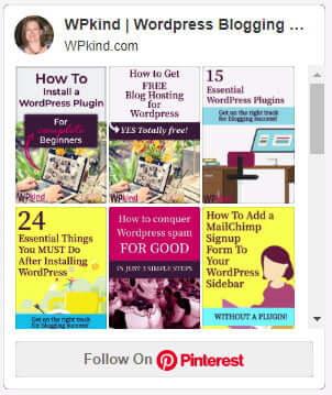 Pinterest board gallery widget in WordPress