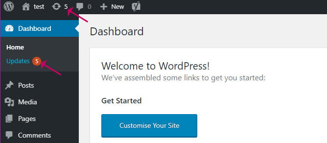 How to know WordPress updates are available