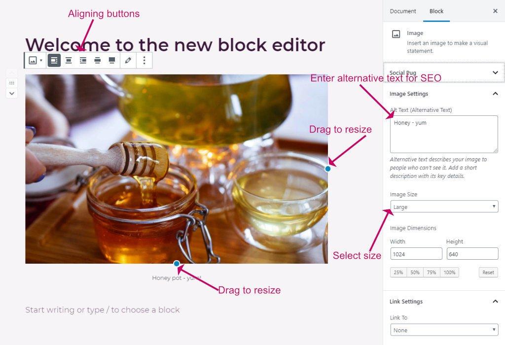 Image block editing