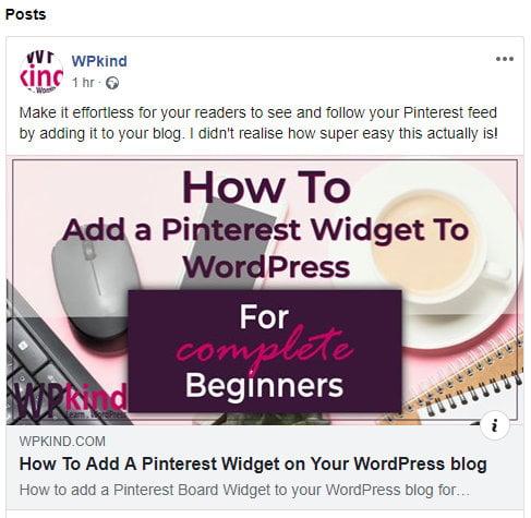Social media sharing example