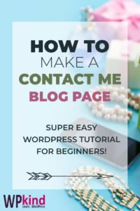 How To Add A Contact Me Page