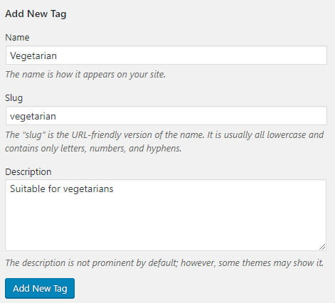 Add new WordPress tag