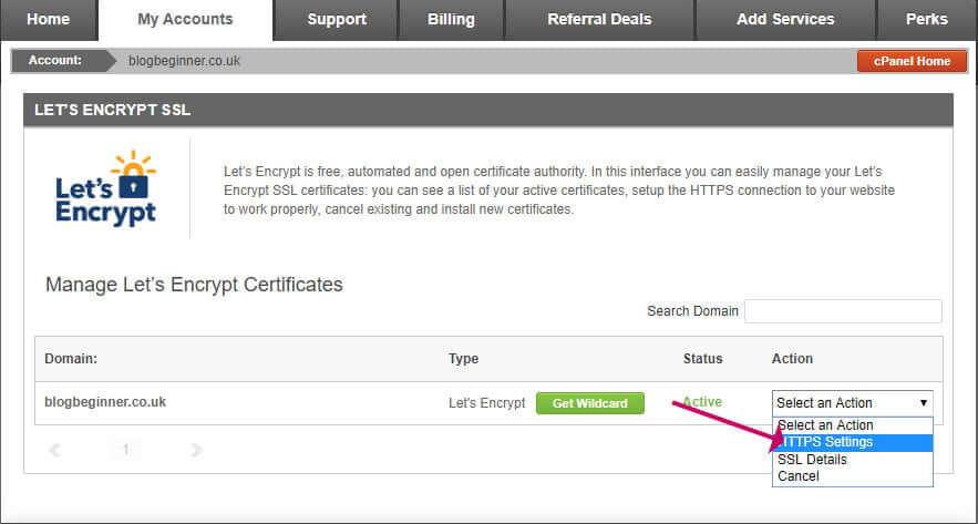 Siteground HTTPS Settings