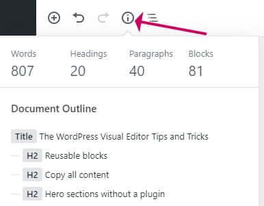 Block editor toolbar