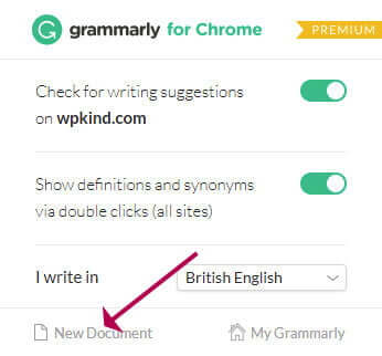 Grammarly - New Document