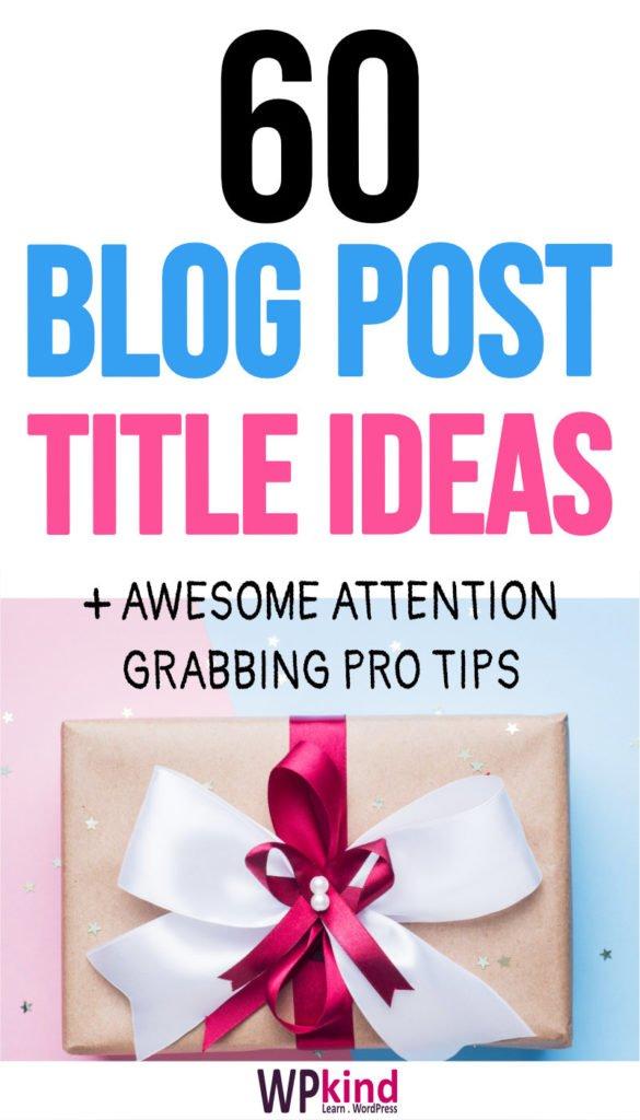 Powerful blog post titles