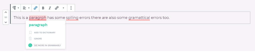 Spelling and grammar errors picked up by Grammarly