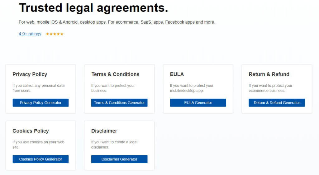 TermsFeed Trusted Legal Agreements