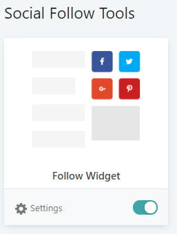 Grow Social Pro - Switch On Follow Widget