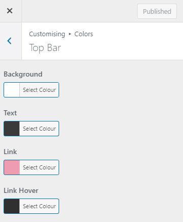 Top bar colours with GeneratePress Premium