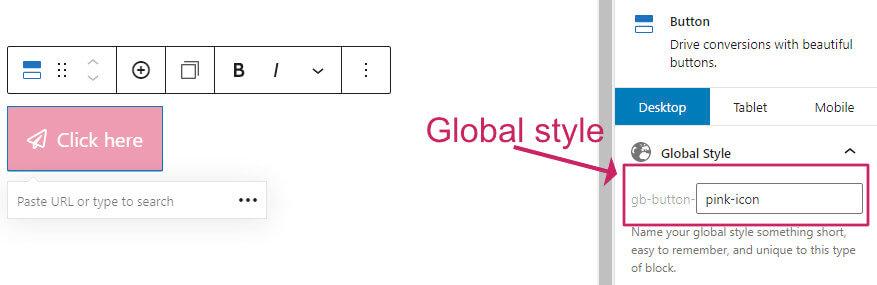 Generateblocks global style