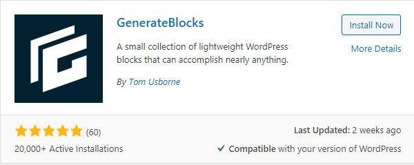 generateblocks by tom usborne