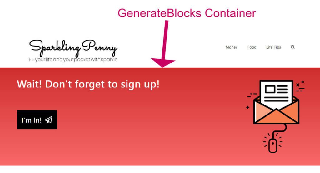 generateblocks container block example