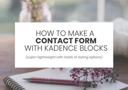 How To Make a Contact Form With Kadence Blocks