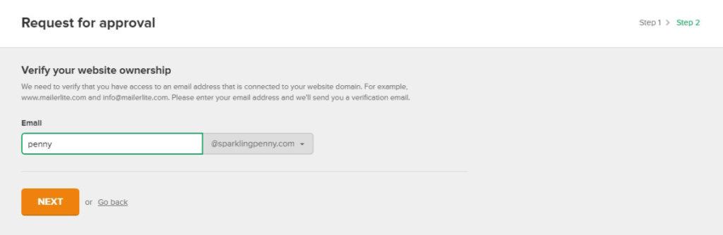 Mailerlite verify website ownership