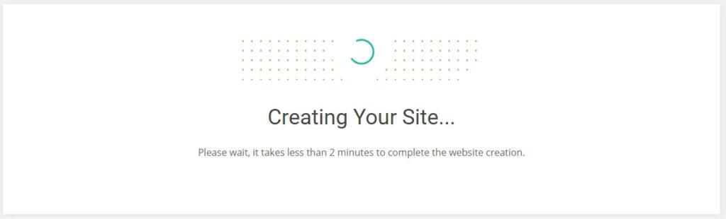 creating wordpress website