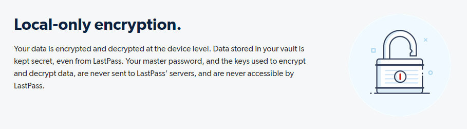 LastPass local only encryption