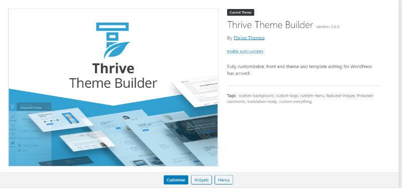 thrive theme builder wordpress theme