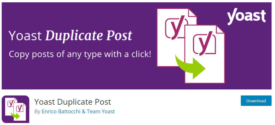 yoast duplicate post wordpress plugin